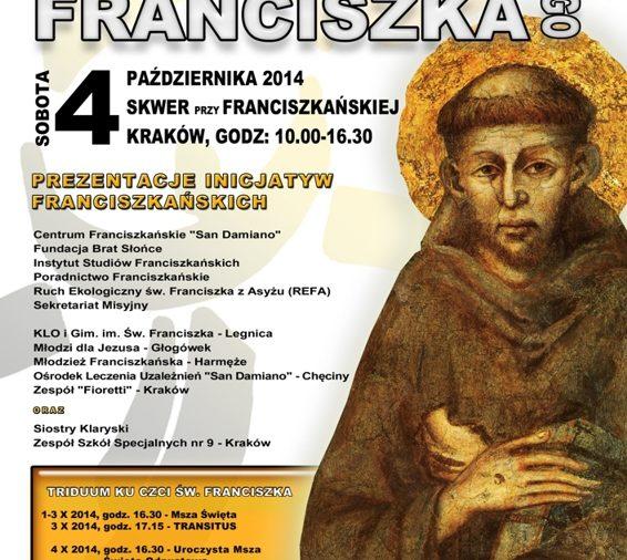 Zaproszenie na Dzień św. Franciszka